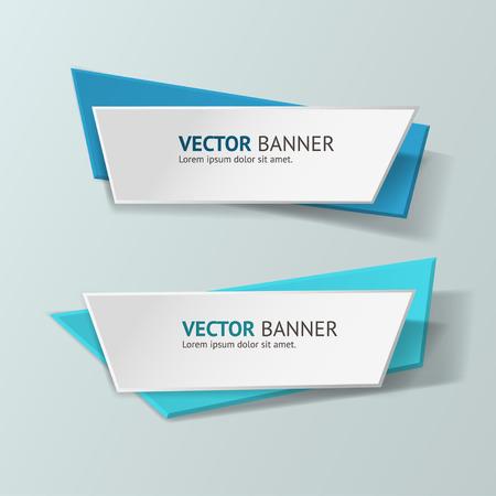 Ilustración de Vector infographic origami banners set. - Imagen libre de derechos
