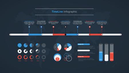 Ilustración de Timeline vector infographic for business design - Imagen libre de derechos