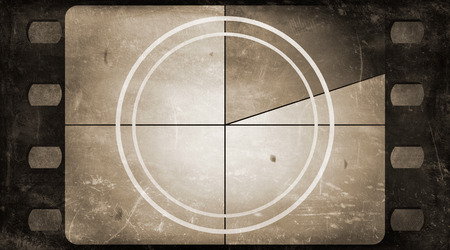 Photo for Grunge film frame background with vintage movie countdown - Royalty Free Image