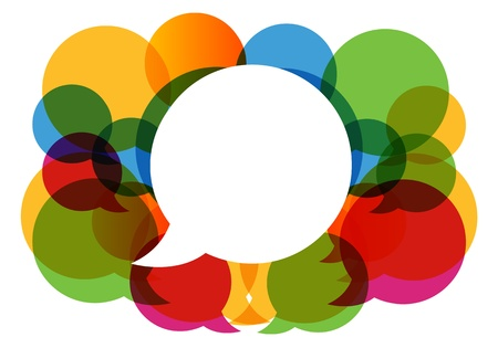 Photo pour colorful dialog bubbles  - image libre de droit