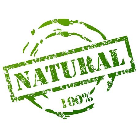 Illustration pour Grunge Natural Stamp - image libre de droit