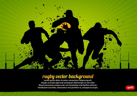 Rugby Vector Poster