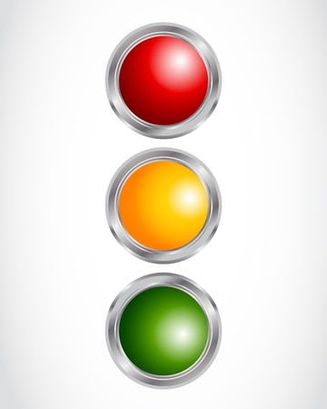 traffic light buttons concept