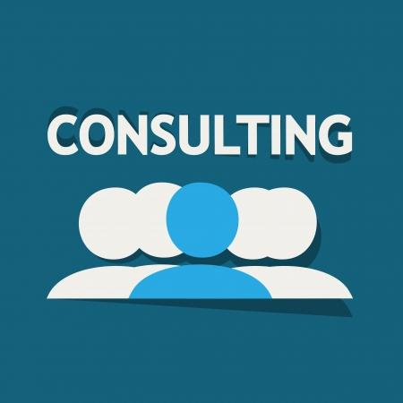 Ilustración de Consulting Team - Imagen libre de derechos