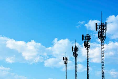 Photo pour Silhouette phone antenna - image libre de droit