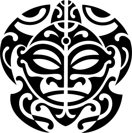 Illustration for Maori turtle is isolated on white - Royalty Free Image