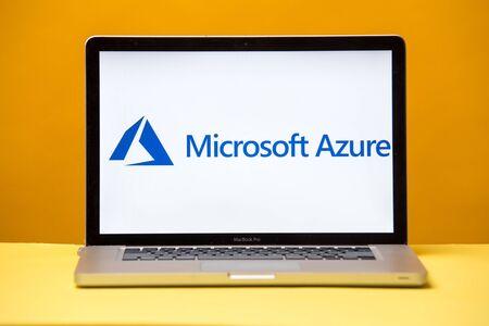 Foto de Tula, Russia 17. 06 2019 Microsoft Azure on the laptop display. - Imagen libre de derechos