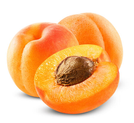 Photo for Fresh apricot on white background. Clipping Path - Royalty Free Image