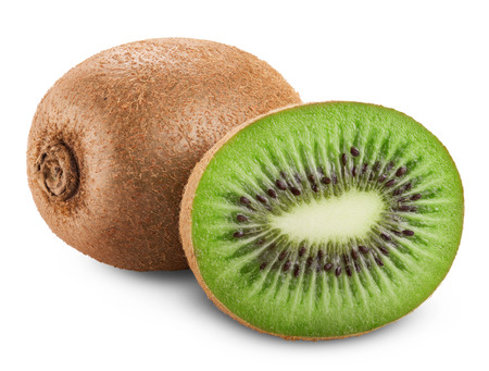 Photo pour Kiwi fruit isolated on white background. Clipping Path - image libre de droit