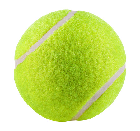 Photo pour Tennis Ball isolated on white background. Clipping Path - image libre de droit