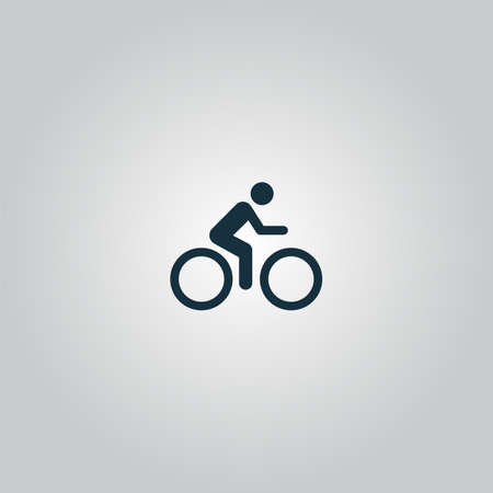 Illustration pour cycling road. Flat web icon or sign isolated on grey background. Collection modern trend concept design style vector illustration symbol - image libre de droit