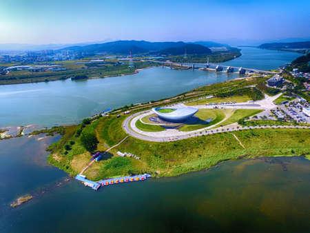 Photo pour Aerial View of The Arc, Dalseonggun, daegu, Gyeongsangbukdo, South Korea Asia - image libre de droit