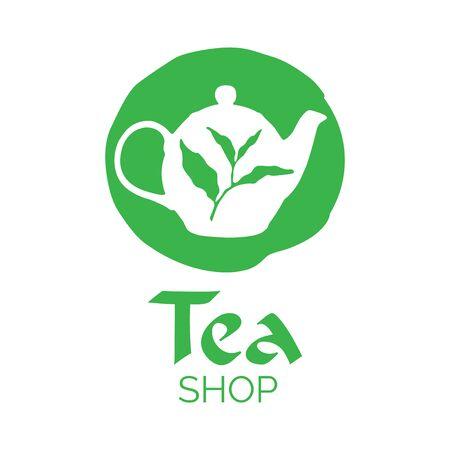 Ilustración de Vector logo of a tea shop - Imagen libre de derechos