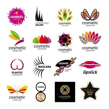 Ilustración de Collection of logos for cosmetics and body care - Imagen libre de derechos