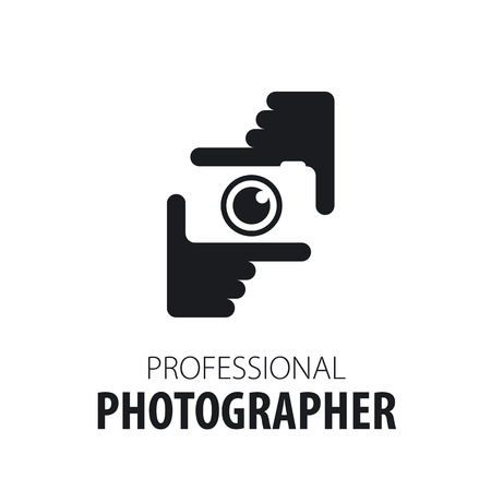 Illustration pour icon camera in the hands of the photographer - image libre de droit