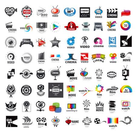 Ilustración de large set of vector logos photo and video production - Imagen libre de derechos