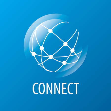 Illustration pour vector logo to connect to the global network - image libre de droit