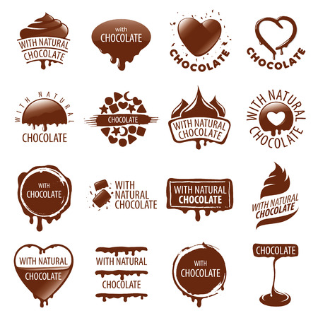 Illustration pour large set of vector   chocolate - image libre de droit