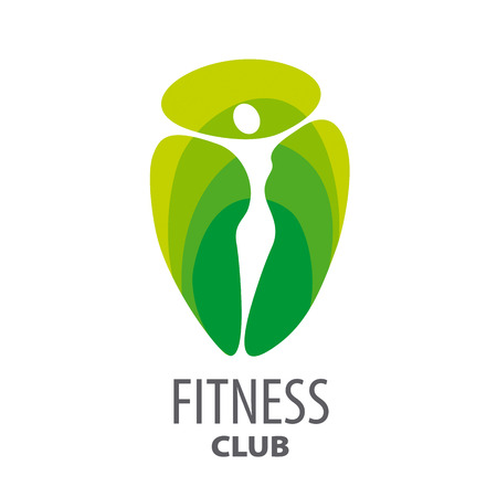 green abstract vector logo for fitness club