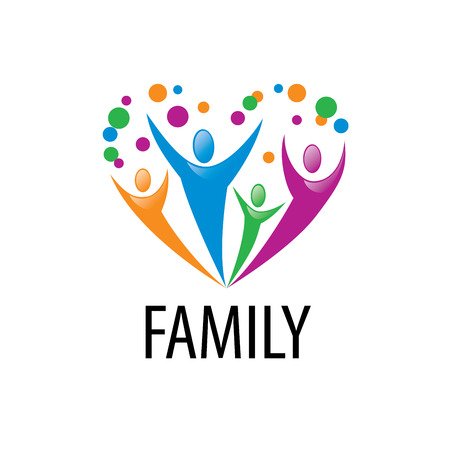 Illustration pour abstract vector sign for the family and the union people - image libre de droit