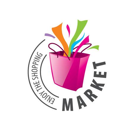 Ilustración de Vector logo template for shopping. Concepts and ideas - Imagen libre de derechos