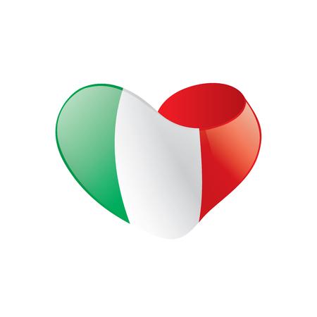 Illustration pour Italy flag, vector illustration - image libre de droit