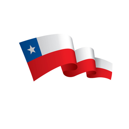 Illustration pour Chile flag, vector illustration on a white background - image libre de droit