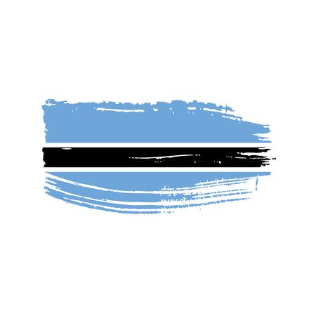 Ilustración de Botswana flag icon illustration. Isolated on white background. - Imagen libre de derechos