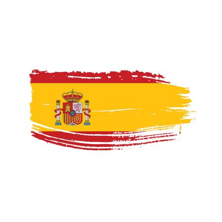 Illustration pour Spain flag, vector illustration on a white background. - image libre de droit