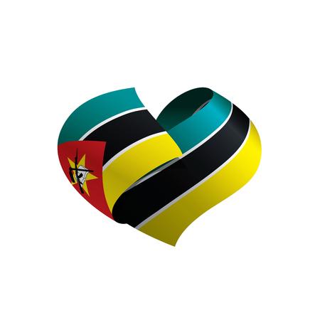Illustration pour Mozambique flag, vector illustration - image libre de droit