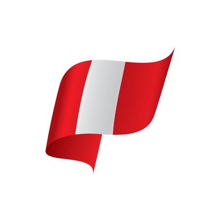 Illustration for Peru flag, vector illustration - Royalty Free Image