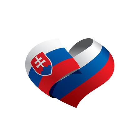 Illustration pour Slovakia flag, vector illustration on a white background - image libre de droit