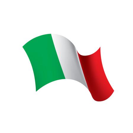 Illustration pour Italy flag, vector illustration on a white background. - image libre de droit