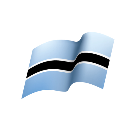 Ilustración de Botswana flag, vector illustration - Imagen libre de derechos