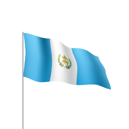 Illustration pour Guatemala flag, vector illustration - image libre de droit