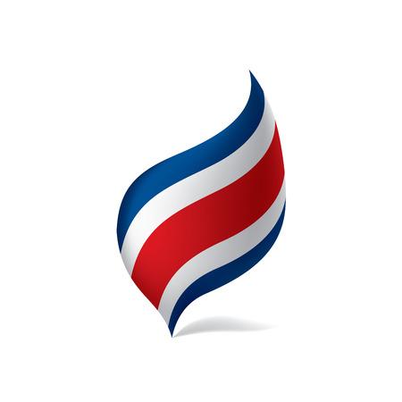Illustration pour Costa Rica flag, vector illustration - image libre de droit
