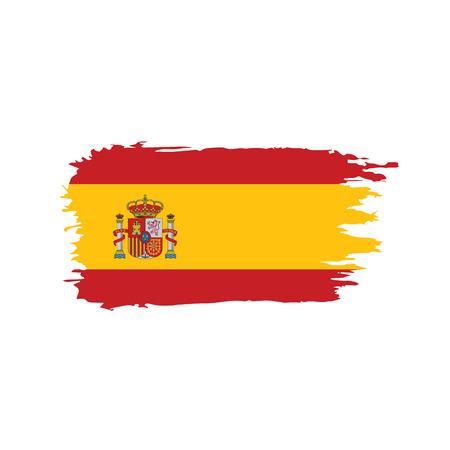 Illustration pour Spain flag on white background, vector illustration. - image libre de droit