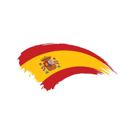 Illustration pour spain flag, vector illustration on a white background - image libre de droit