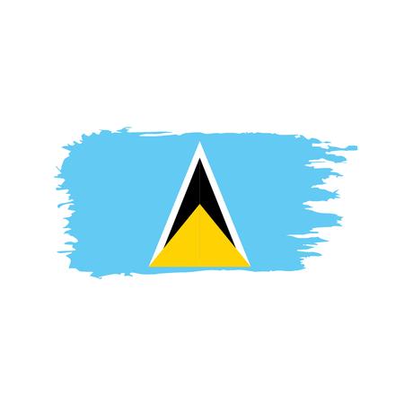 Illustration pour Saint Lucia flag, vector illustration on a white background - image libre de droit
