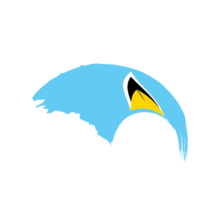 Illustration pour Saint Lucia flag, vector illustration - image libre de droit