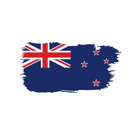 Illustration pour New Zealand flag, vector illustration - image libre de droit