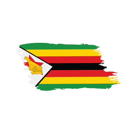 Illustration pour Zimbabwe flag, vector illustration - image libre de droit
