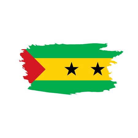 Illustration pour Sao Tome and Principe flag, vector illustration - image libre de droit