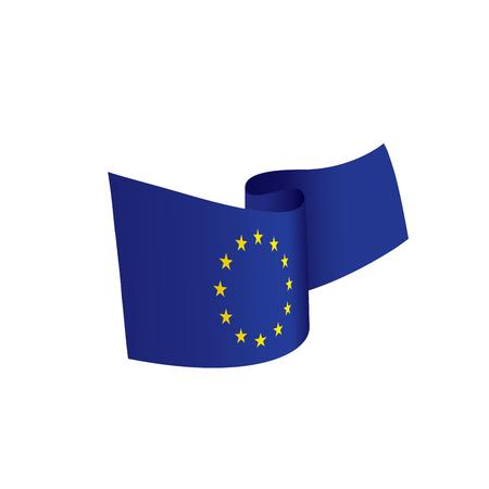 Illustration pour European union flag, vector illustration - image libre de droit