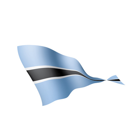 Ilustración de Botswana flag, vector illustration on a white background - Imagen libre de derechos