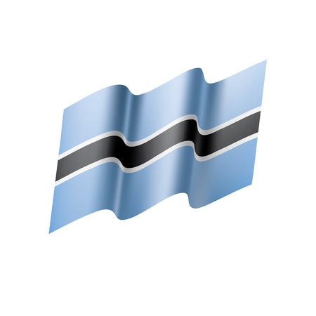 Ilustración de Botswana flag illustration on white background. - Imagen libre de derechos