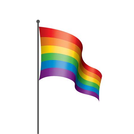 Ilustración de Vector a rainbow flag - Imagen libre de derechos
