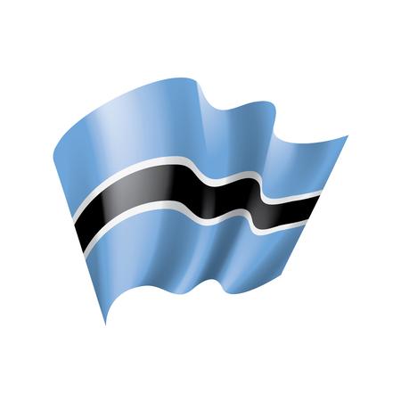 Ilustración de Botswana national flag, vector illustration on a white background - Imagen libre de derechos