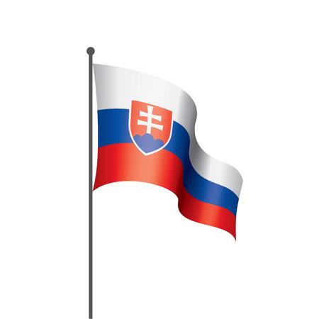 Illustration pour Slovakia national flag, vector illustration on a white background - image libre de droit
