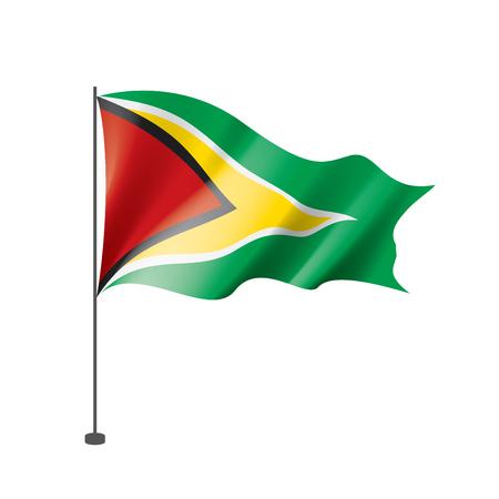 Illustration pour Guyana national flag, vector illustration on a white background - image libre de droit